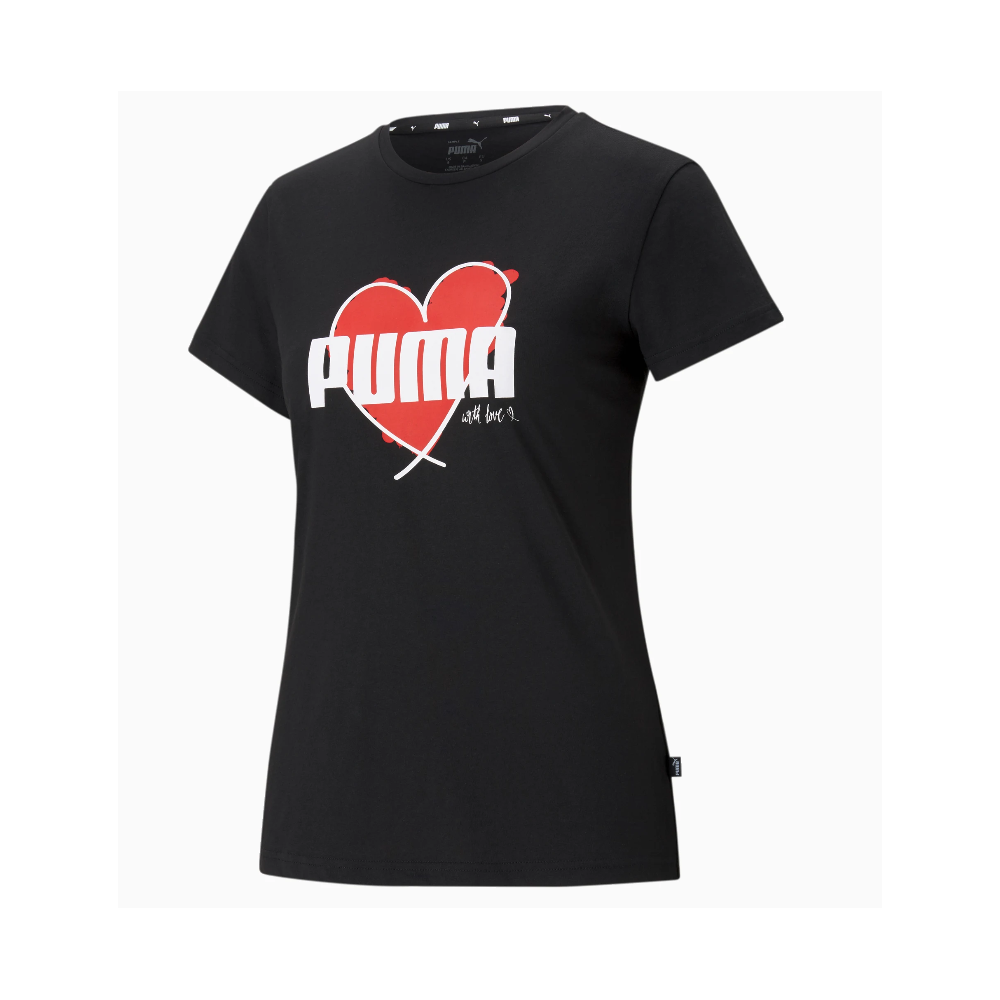 Heart TEE C.01 Women' PUMA s Casual Cotton T-Shirt